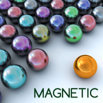 リアルな動きの磁石のボールで、3マッチパズル!【磁気ボール をやってみた】