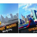 スパイダーマンのポスターとそっくりのマリオ写真をスーパーマリオオデッセイで作成した猛者が現る
